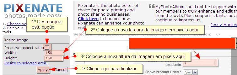 Redimensionar Imagem - Quarto Passo
