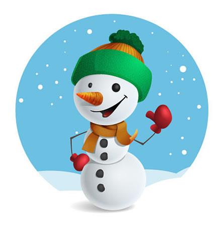 Mascote Feliz Natal Boneco De Neve