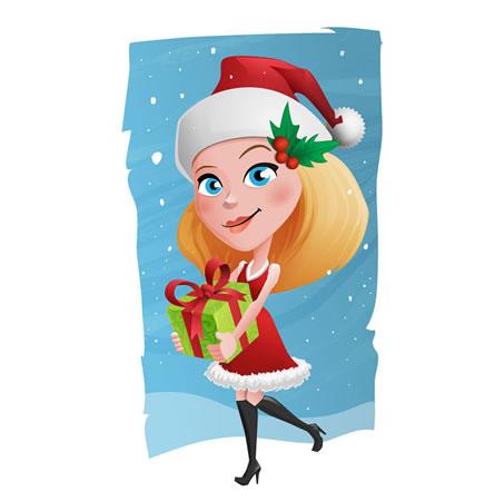 Mascote Feliz Natal Mae Noel Presente