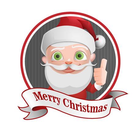 Mascote Feliz Natal Papai Noel Logo