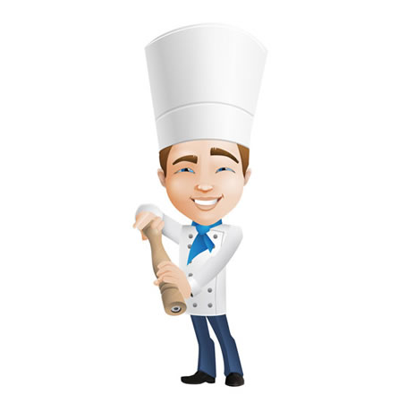 Mascote Restaurante Tempero