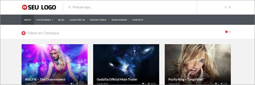 criar site de videos